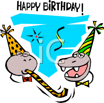 happy birthday cartoon cards. Happy Birthday Clipart