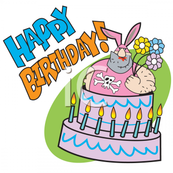 happy birthday cartoon funny. Birthday Candles Clipart